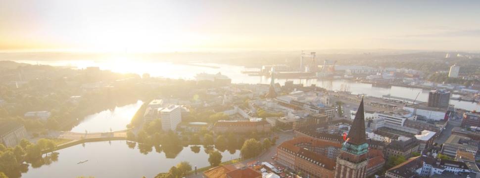 Luftaufnahme der Kieler Innenstadt, © Oliver Franke