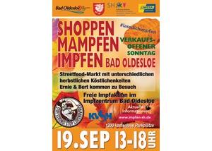 """Verkaufsoffener Sonntag """"Shoppen-Mampfen-Impfen"""""""