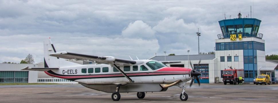 Cessna 208 in Kiel gelandet, © Stephen Gergs